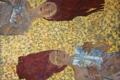 Papirfly Oljemaleri 100x120 cm kr 13000 ur