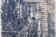 Johannes Litografi 37x23 cm 3000,-kr u.r.