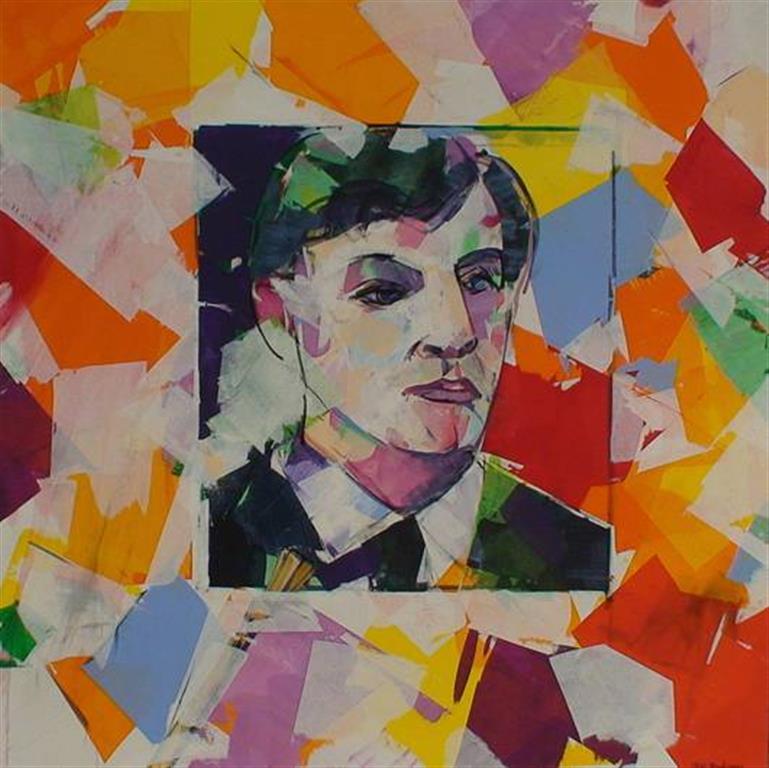 Maleren Akrylmaleri (100x100 cm) kr 13500 ur