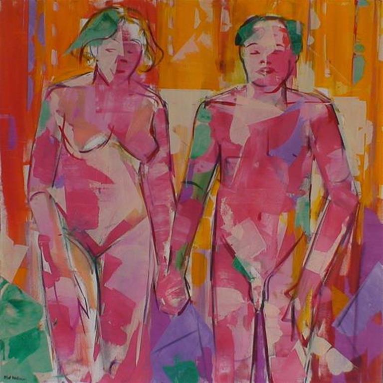 Mann og kvinne I Akrylmaleri (100x100 cm) kr 15000 ur