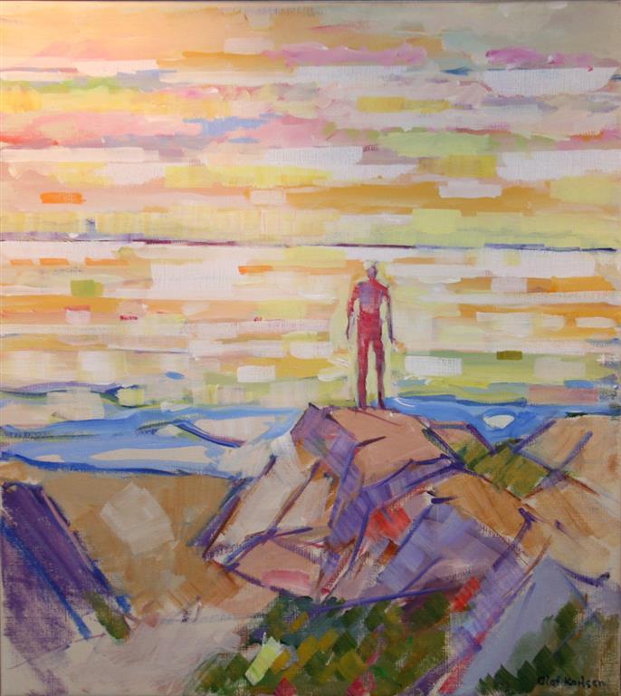 Sommerdag ved havet I Akrylmaleri (60x35 cm) kr 6000 mr