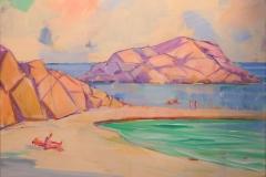 Sommerstrand Akrylmaleri (50x70 cm) kr 7000 mr