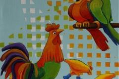 Fugleprat Maleri 60x50 cm 4000 ur
