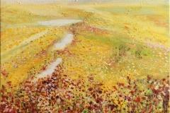 Valmuer i sommerkorn Oljemaleri (50x50 cm) kr 6000 ur