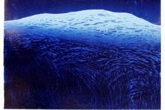 Gjennom stillheten en natt Linosnitt 46x63 cm 3400 ur