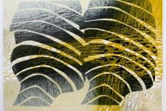 Morgensol Linosnitt 46,5x65 cm 3800 ur