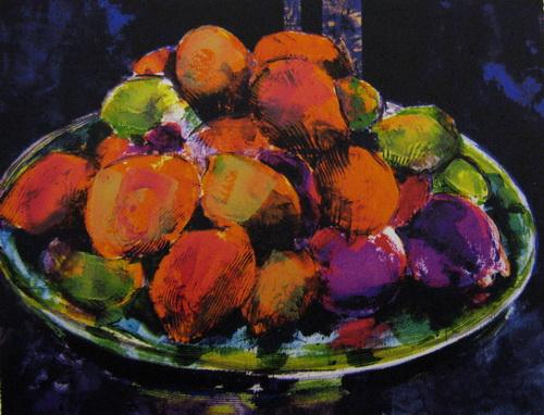 Fristende frukter Seriegrafi 29,5x38,5cm 2000,-kr u.r.