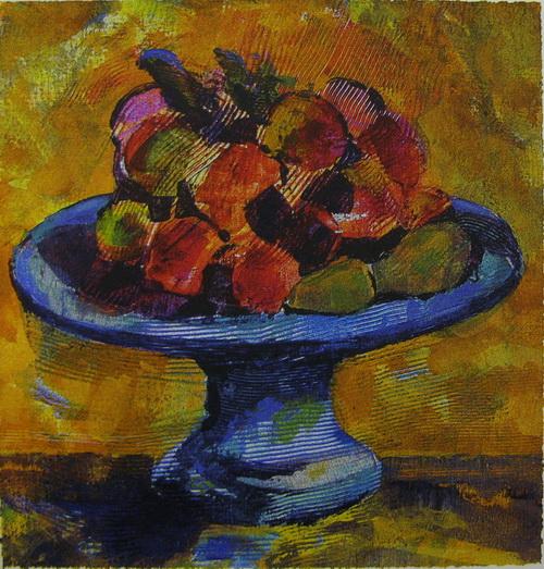 Frukter Serigrafi 23x22cm 1200,-kr u.r.