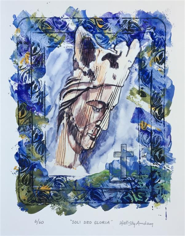 Soli Deo Gloria Serigrafi (46x36 cm) kr 3000 ur