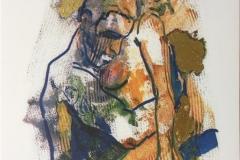 Eros II Serigrafi med bladgull (41x28 cm) kr 2000 ur