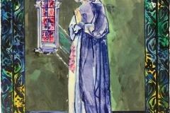 Kristin i Nidaros Serigrafi (36x23 cm) kr 750 ur