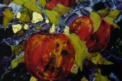 Rødt Seriegrafi 12,5x13cm 850,-kr u.r.