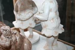 To musikanter med rosa Keramikk H26 cm 2900