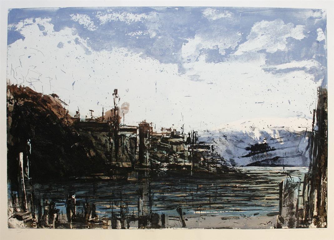 Fjordby Etsning (79x115 cm) kr 8000 ur