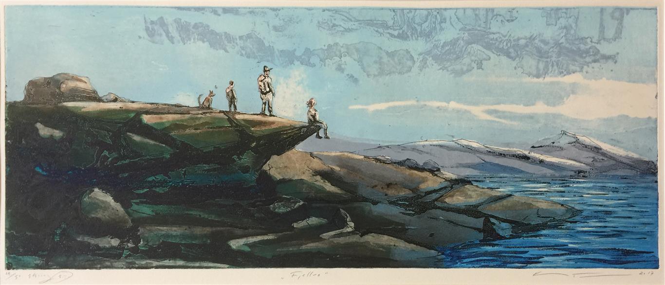 Fjordfjell Etsning (30x75 cm) kr 4200 ur