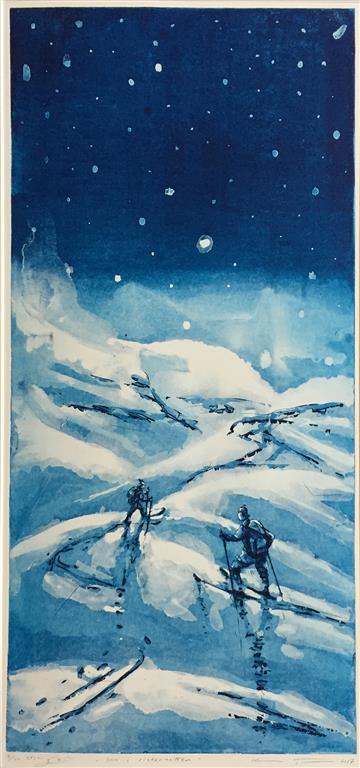 Inn i vinternatten Etsning (74,5x35 cm) kr 4000 ur