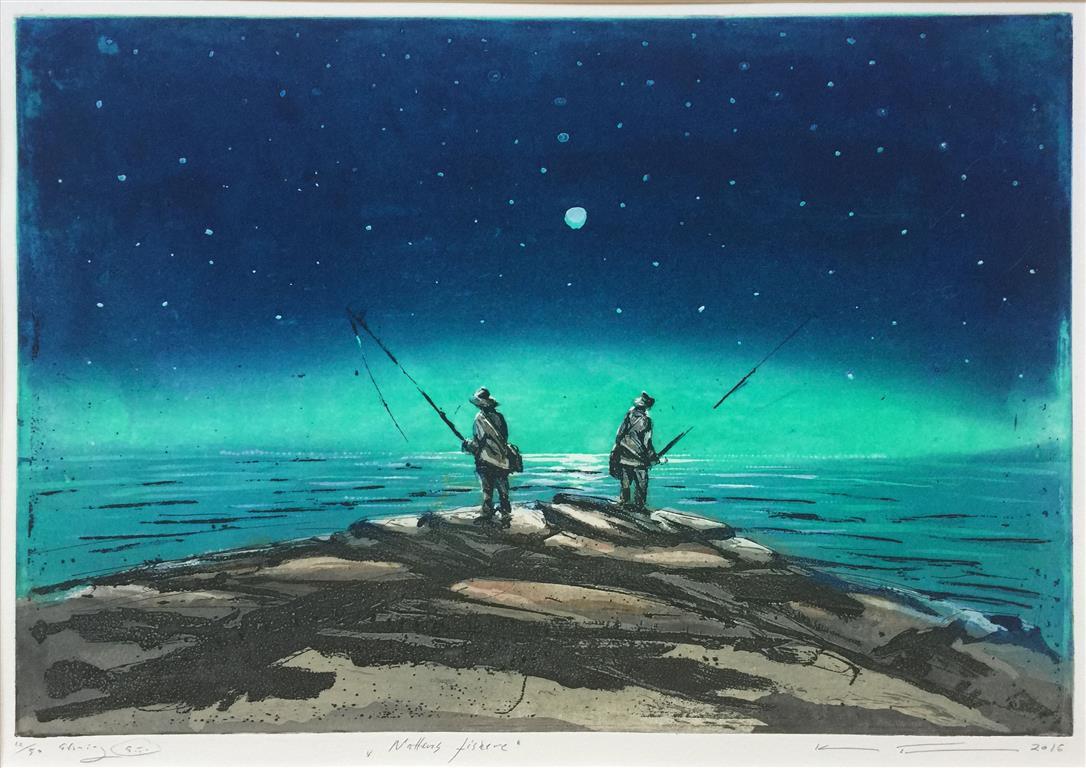 Nattens fiskere Etsning (35x50 cm) kr 3100 ur