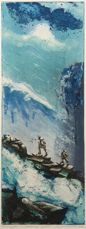 Ruskevær i fjellet Etsning (80x30 cm) kr 4000 ur
