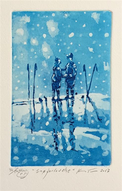 Snøforlovelse Etsning (14,5x9,5 cm) kr 900 ur