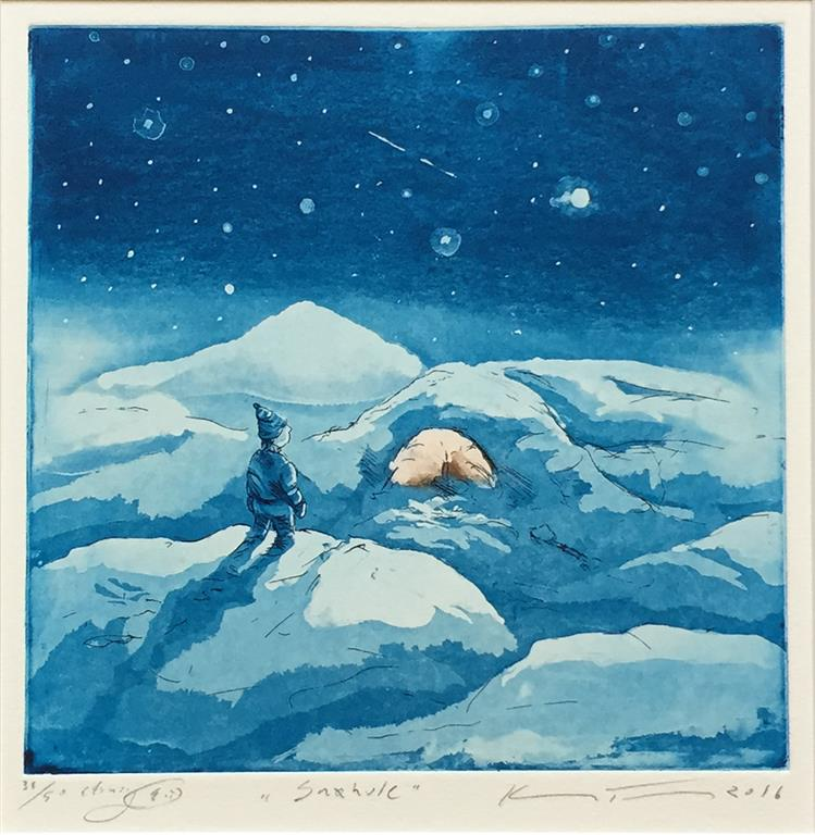 Snøhule Etsning (20x20 cm) kr 1600 ur