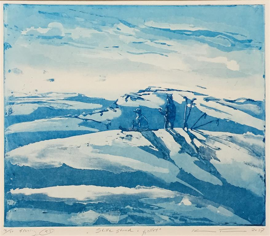 Stille stund i fjellet Etsning (29,5x35 cm) kr 2200 ur