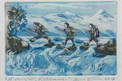 Fjellvenninner Etsning (10x15 cm) kr 900 ur