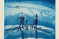 Lys i natten Etsning (14,5x9,5 cm) kr 900 ur
