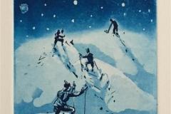 Opp og fram mot stjernene Etsning (14,5x10 cm) kr 900 ur