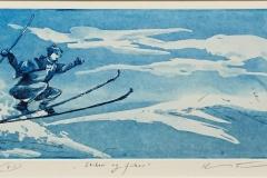Skikar og frikar Etsning (15x29 cm) kr 1600 ur
