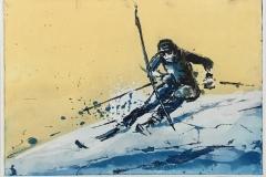 Slalomprinsen Etsning (35x50 cm) kr 2900 ur