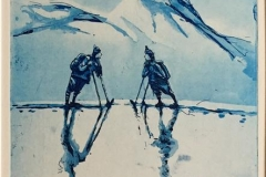 Slik vi møttes i fjellet Etsning (34,5x20 cm) kr 1900 ur