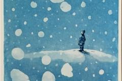 Snøens egen musikk Etsning (20x20 cm) kr 1600 ur