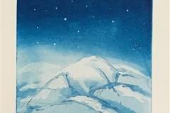 Stjernetur med bikkja Etsning (49,5x19 cm) kr 2500 ur