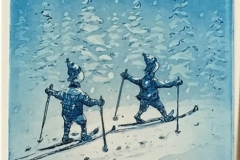 Vinterengler Etsning (21,5x14 cm) kr 1200 ur