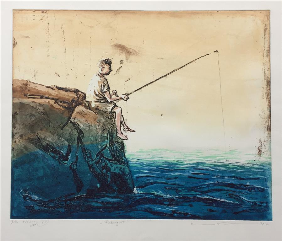 Fiskergutt Etsning (40x50 cm) kr 2500 ur