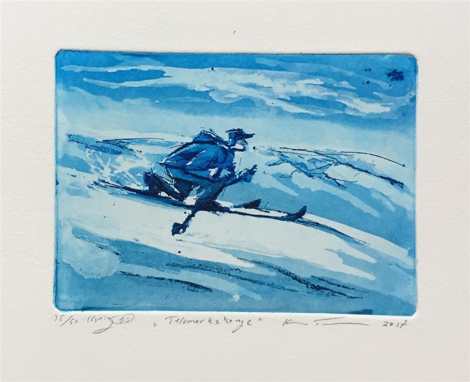 Telemarkskonge Etsning (11x15 cm) kr 900 ur