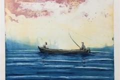 I samme båt II Etsning (43x50 cm) kr 3000 ur