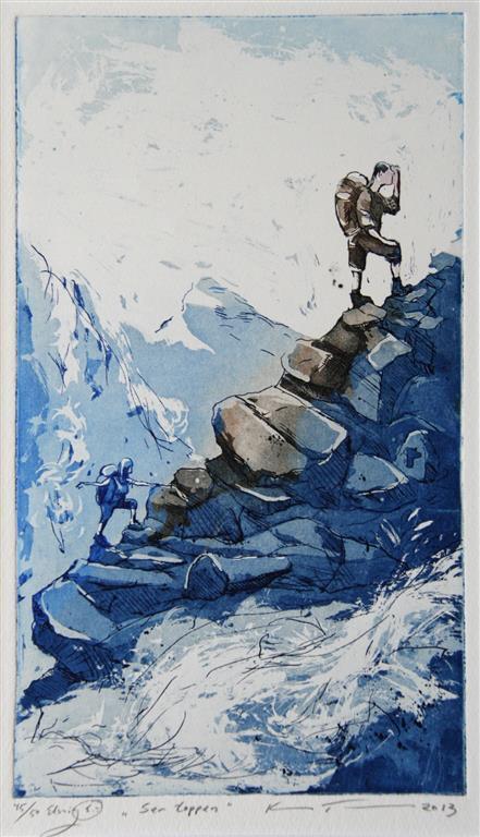 Ser toppen Etsning 26x15 cm 1400 ur