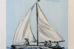 Familieseilas Etsning 39,5x19,5 cm 1600 ur