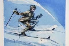 Nye ski Etsning 20x22 cm 1500 ur