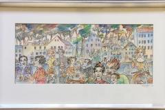 Mot Straen Akvarell (20x46 cm) kr 6000 mr