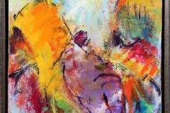 Komposisjon 11 Akrylmaleri (40x40 cm) kr 3600 mr