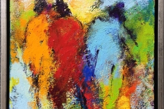 Komposisjon 13 Akrylmaleri (30x30 cm) kr 2600 mr