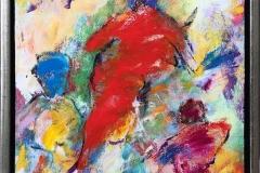 Komposisjon 15 Akrylmaleri (30x30 cm) kr 2600 mr