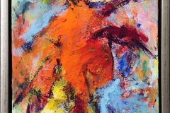 Komposisjon 16 Akrylmaleri (30x25 cm) kr 2400 mr