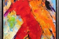 Komposisjon 2 Akrylmaleri (50x35 cm) kr 4000 mr