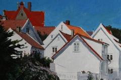 Gamle Stavanger Maleri 24x30 cm 3000 mr