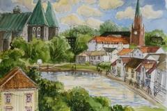 Stavanger-minne II Akvarell (32x40 cm) kr 7000 ur