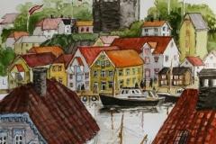 Stavanger-minne V Akvarell (40x33 cm) kr 7000 ur