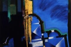 Grundriss Maria-Laach Acryl, pigment, blattgold 90x110 cm 20000 ur